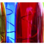 Farbige Flaschen, Detail