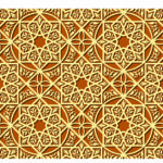 Vintage arabic and islamic background, ethnic style ornaments, geometric ornamental seamless pattern, decorative vector wallpaper, fashion fabric and wrapping with graphic elements for design